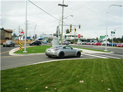 The new intersection at Northfield Rd and Boundary Ave