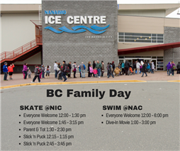 Monday, February 12 Swim @NAC & Skate @NIC