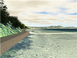 Rendering of potential trail in Departure Bay