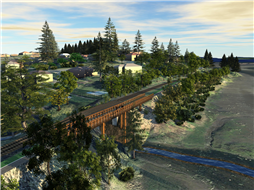 Rendering of potential trestle crossing
