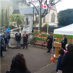 Nanaimo's Dutch-Canadian Friendship Tulip Garden Blooming Ceremony