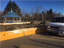 Construction of Outdoor Ice Rink started at Maffeo Sutton Park2