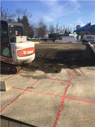 Construction of Outdoor Ice Rink started in Maffeo Sutton Park