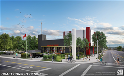 Rendering of New Fire Station