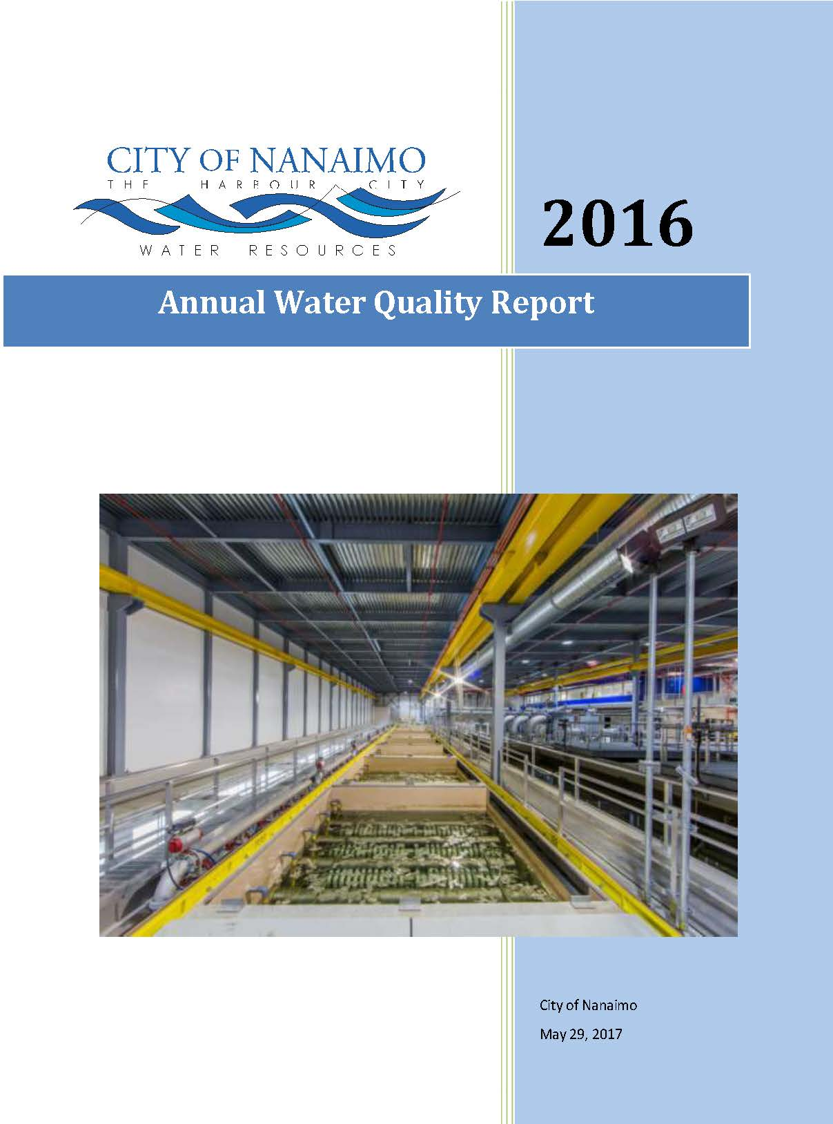 Annual Water Quality Report 2016 front cover