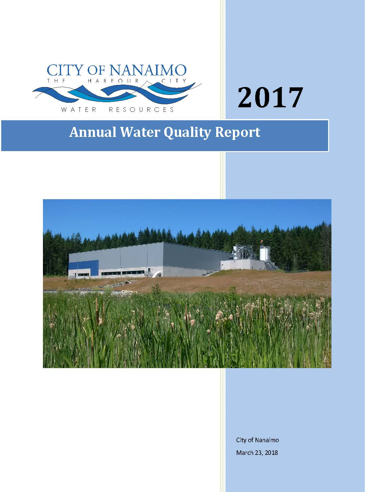 Annual Water Quality Report 2017 front page
