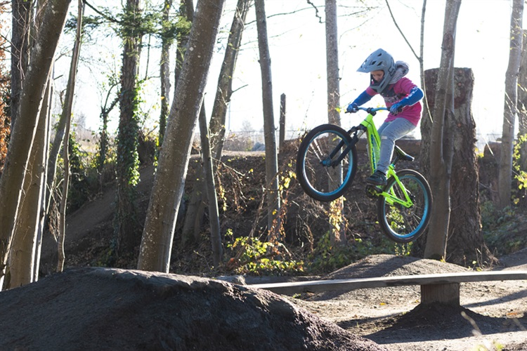 young rider jumps his bike