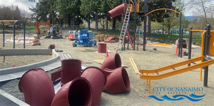 Construction of Maffeo Sutton Park playground