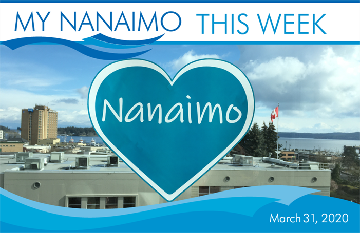 My Nanaimo This Week March 31 header image of Nanaimo heart in window