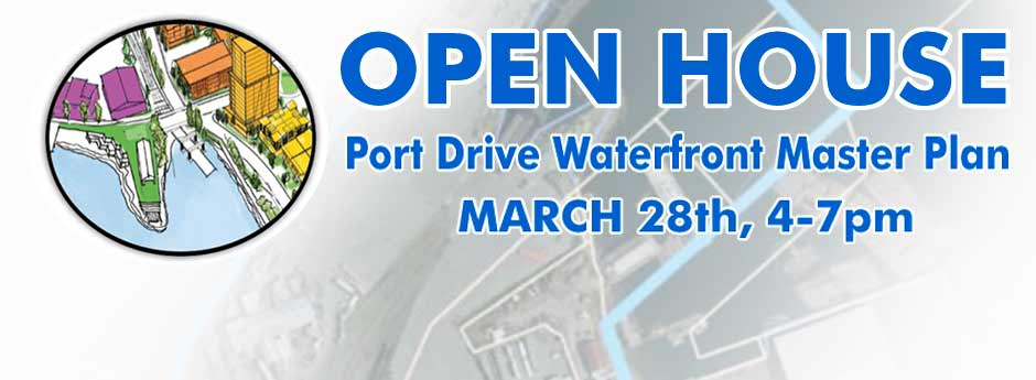 Port Drive Open House banner