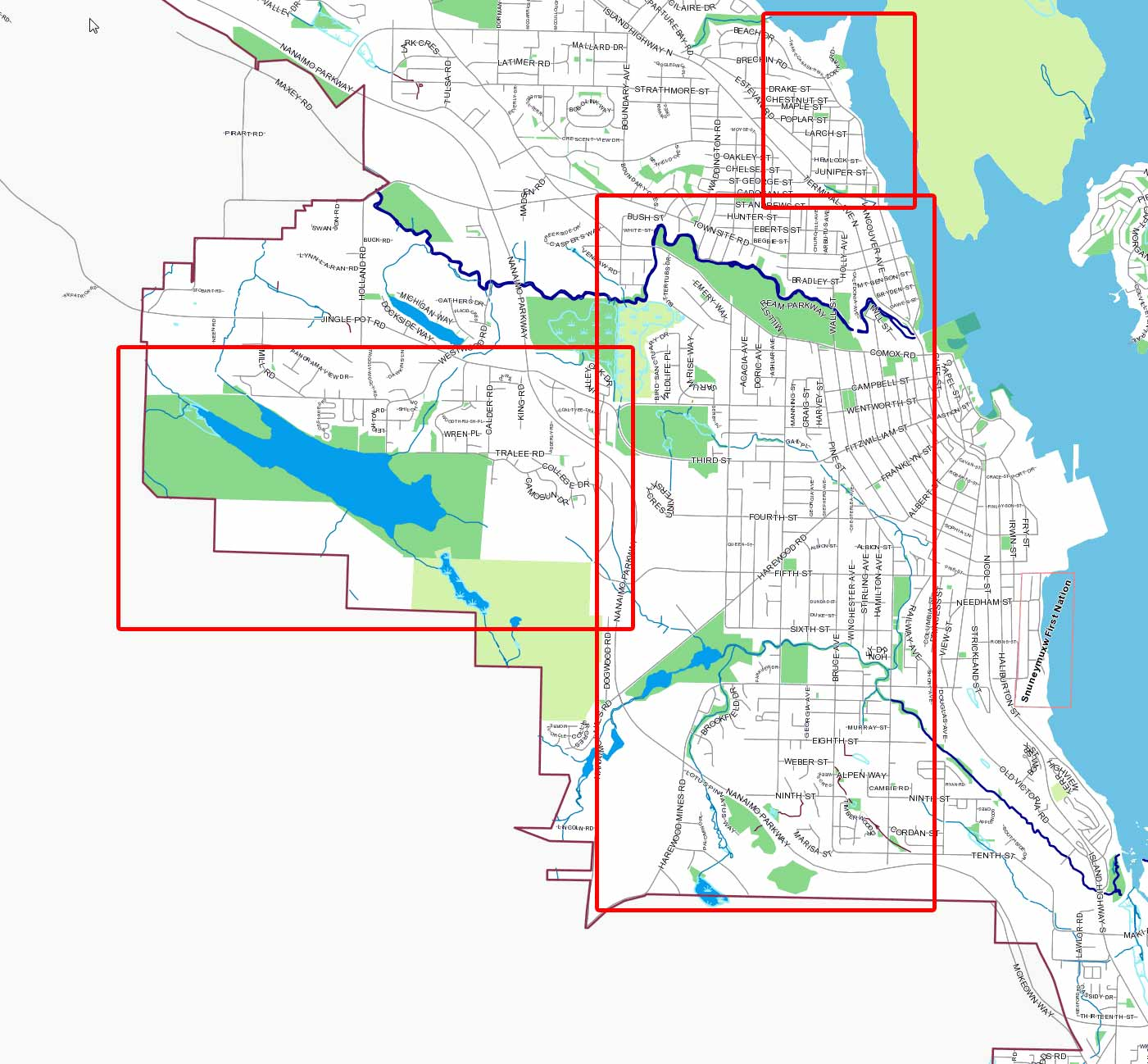 Water main flushing map Phase 1