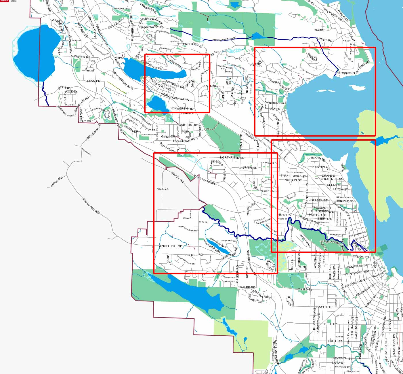 Water main flushing map Phase 2