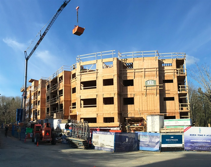 A new residential development under construction on Prideaux Street