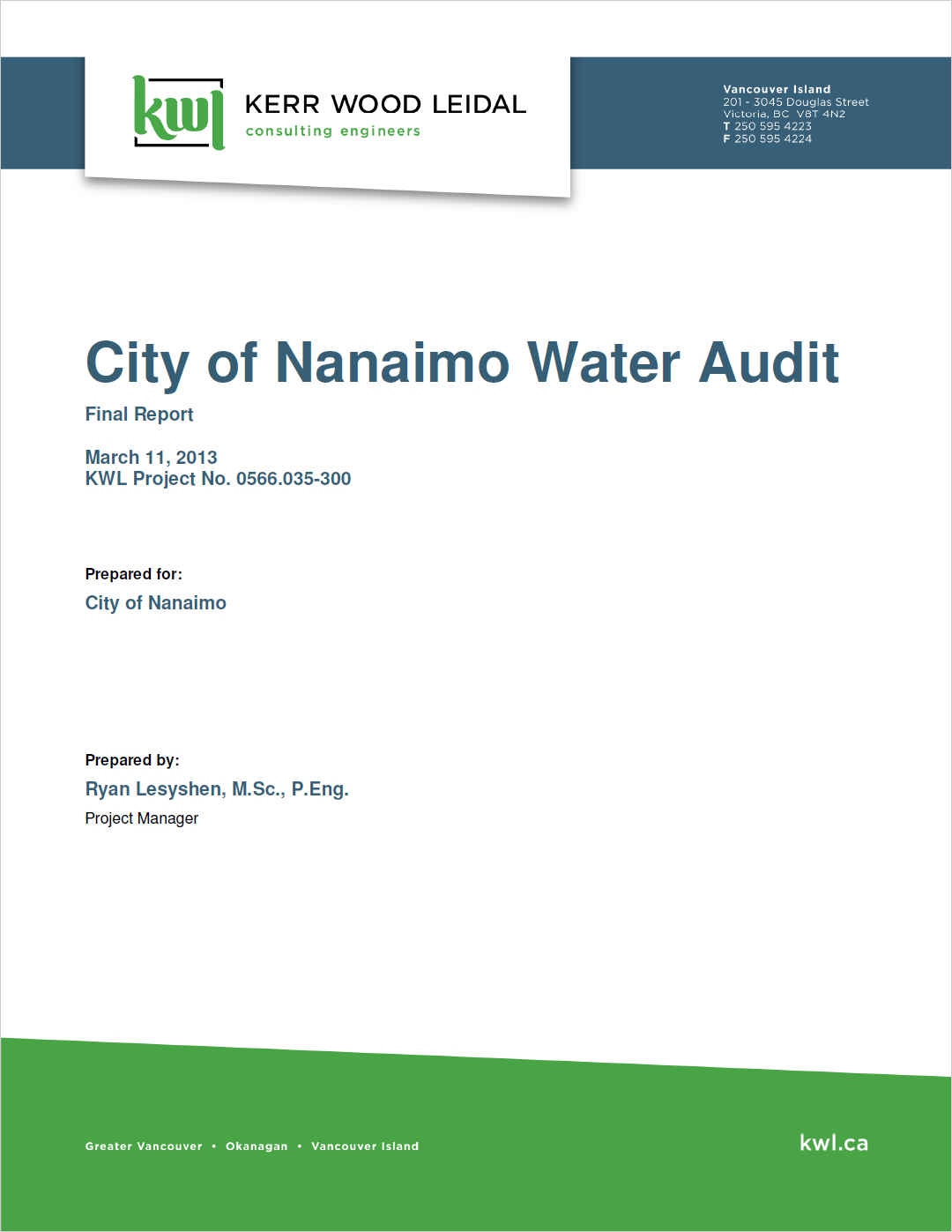 water audit cover