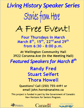 Living History Speaker Series - March 8th poster