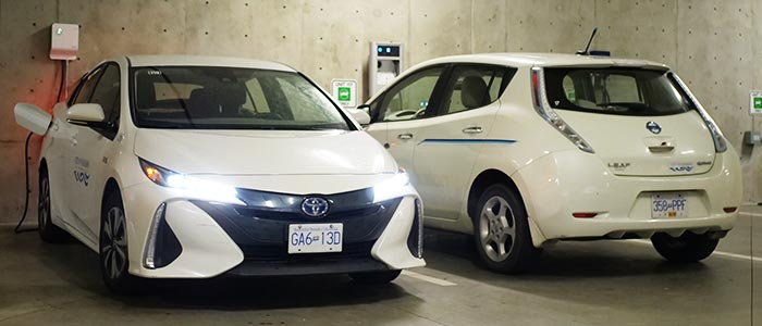 Prius and Leaf charging