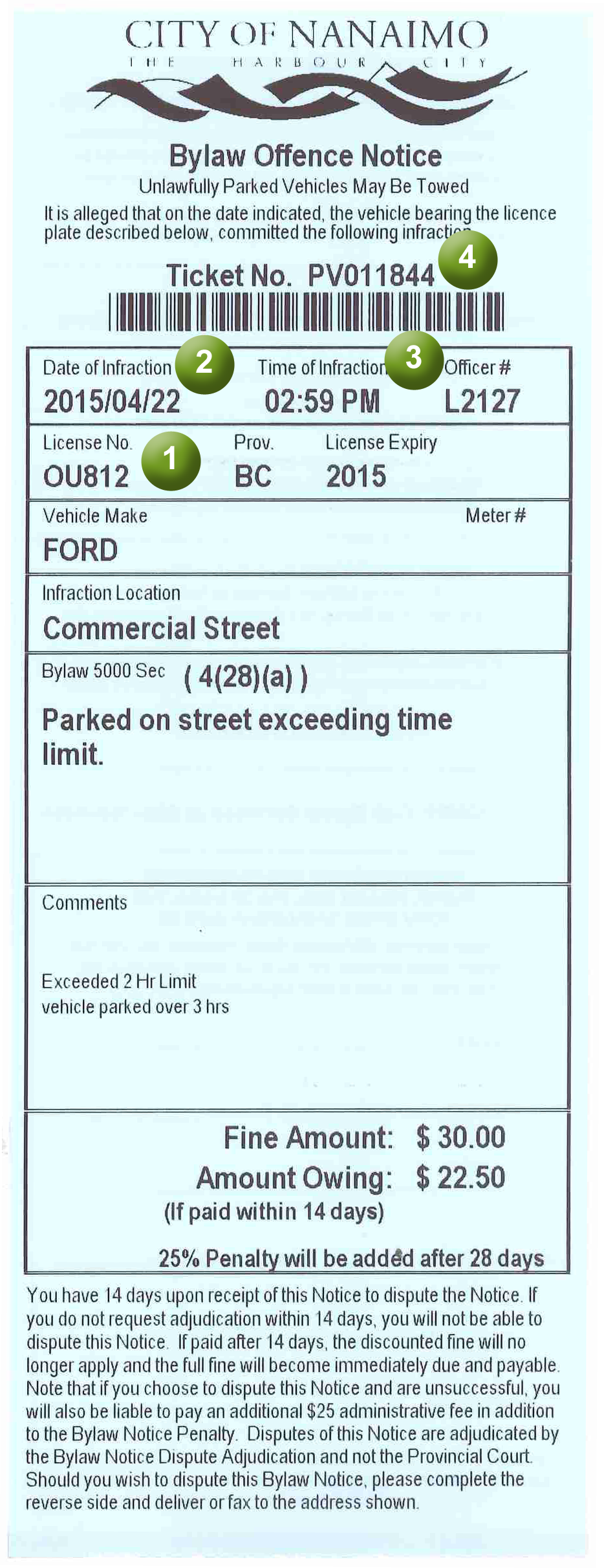 offence-notice-ticket-example
