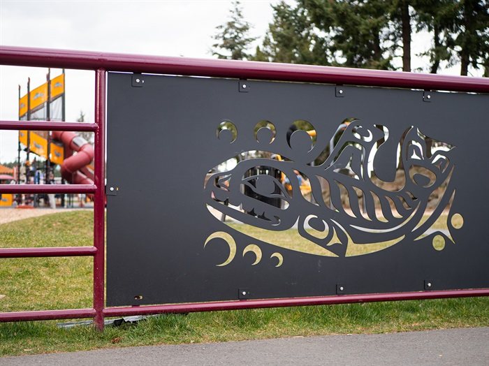 Noel Brown's art at the new Maffeo Sutton Park playground