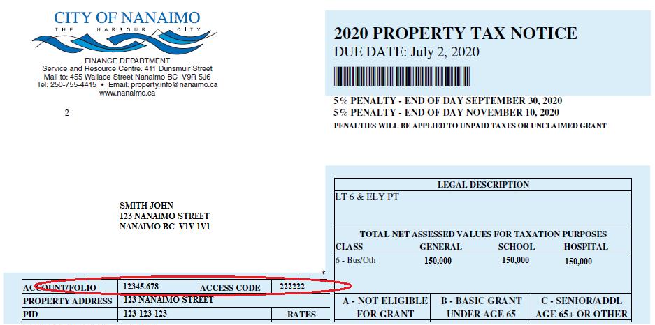 Example Tax Notice