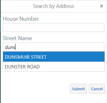 NanaimoMap Address Search