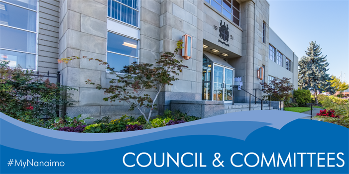 Council and Committees header image of city hall