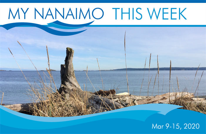 My Nanaimo This Week for March 9-15 header image of view from Pipers Lagoon