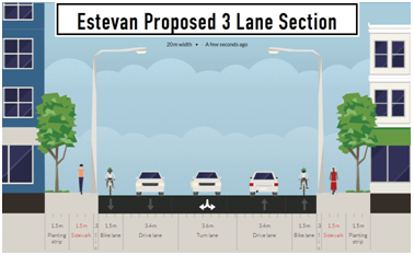 Cross Section - Estevan Proposed 3 Lane