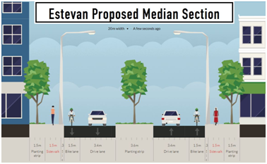 Cross Section - Estevan Proposed Median