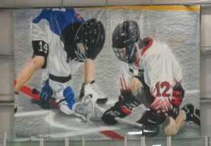 Arena Canvas - Lacrosse Players